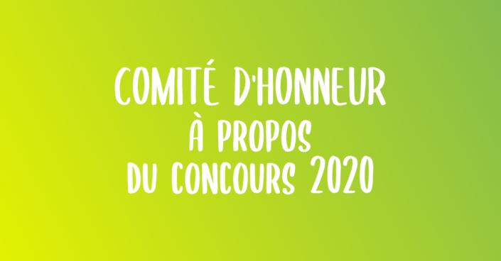 Comité d'honneur : À propos du concours 2020