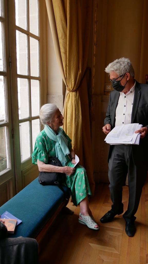 Colette Nys-Mazure, Présidente du Jury 2017 et Guy Féret, Président délégué
