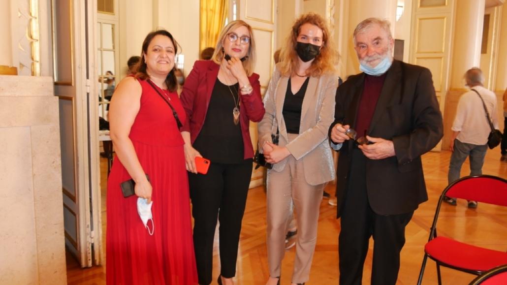 Lynda Aït Bachir, Louisa Nadour, ambassadrice PEL au Moyen-Orient, Louise Bachimont, MEN et Jean-Marc Muller