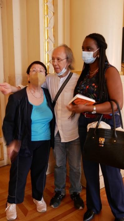 Yen Kuan, coordinatrice, Loc Kan, Adjoua N'Guessan Alice Yao, membre du Comité de lecture