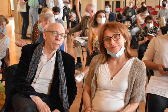 Francis Coffinet, membre du Comité de lecture et Laurence Bouvet, Présidente du Jury 2016