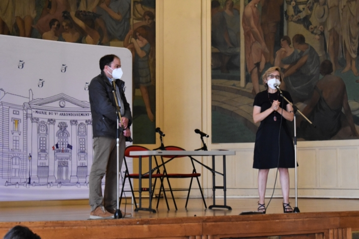 Matthias Vincenot et Madame la Maire, Florence Berthout