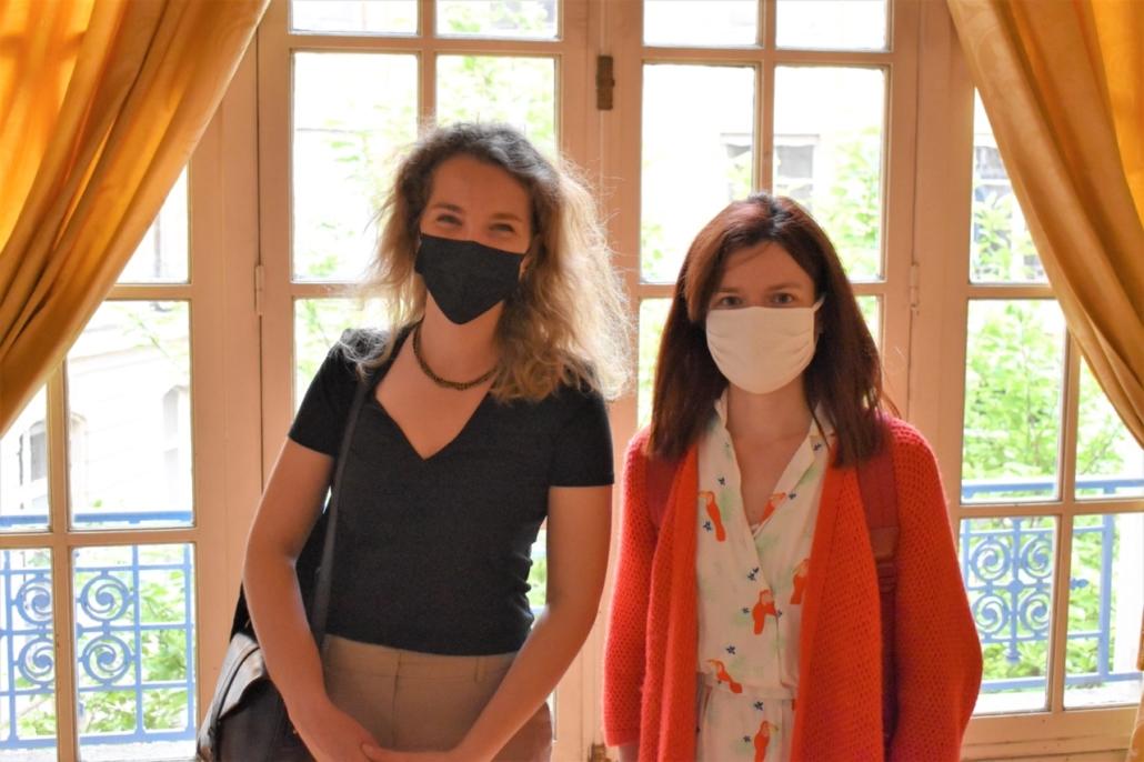 Les représentantes DGESCO du Ministère de l'Education nationale, Louise Bachimont et Perrine Vigroux