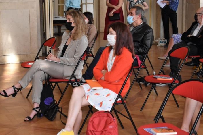 Les représentantes de la Dgesco Louise Bachimont et Perrine Vigroux