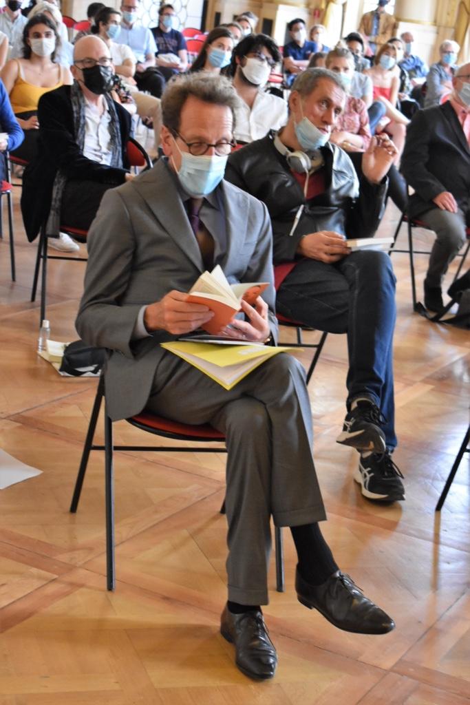 Gilles Le Gendre au 1er rang et notre éditeur François Mocaër, Unicité au 2ème rang