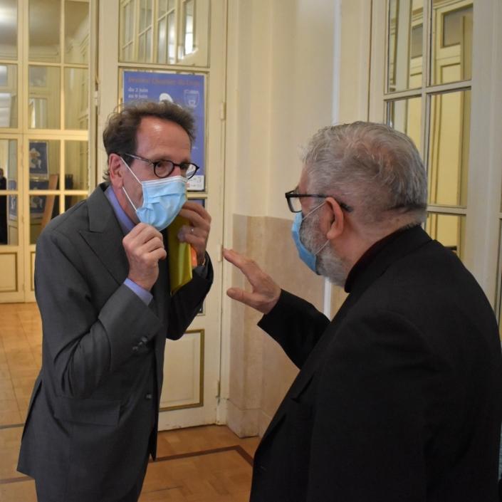 Gilles Le Gendre et Jean-Marc Muller, Président de Poésie en liberté