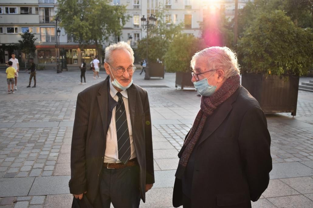 Pierre Brunel, président d'honneur et Jean-Marc Muller, président fondateur