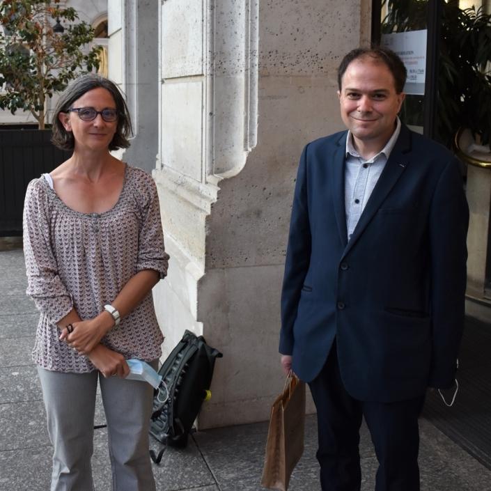 Clotilde Truffaut, présidente de la MGEN-SEM et Matthias Vincenot