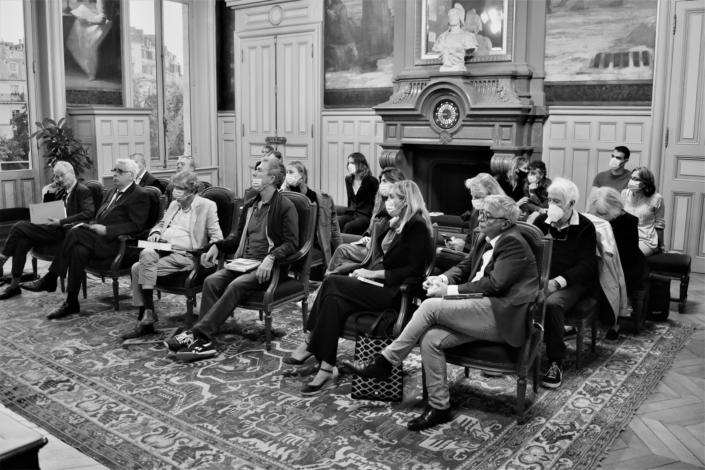 Réunion du Comité d'Honneur, salle des mariages, mairie du 15ème arrondissement de Paris