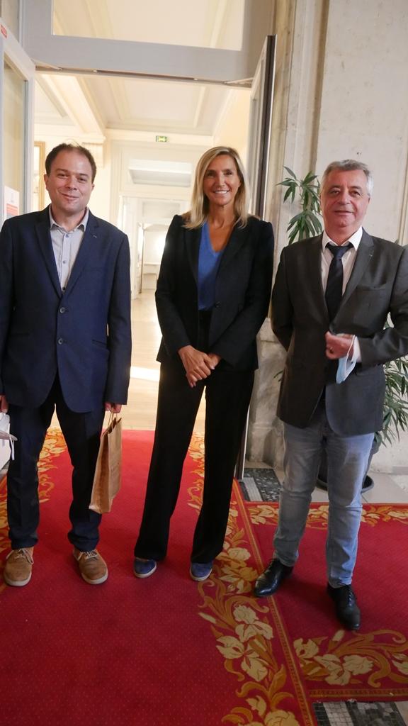 Agnès Evren, députée européenne, conseillère de Paris et du 15ème arrondissement avec Matthias Vincenot et Frédéric Jacquot