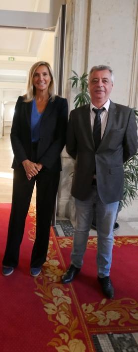 Agnès Evren, députée européenne, conseillère de Paris et du 15ème arrondissement et Frédéric Jacquot