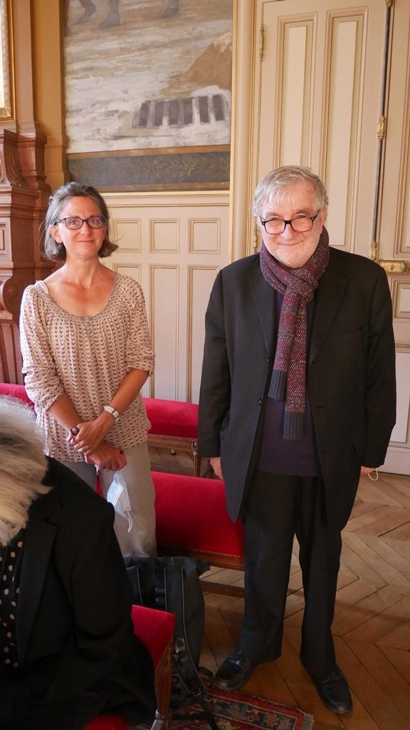 Clotilde Truffaut, présidente de la MGEN SEM et Jean-Marc Muller