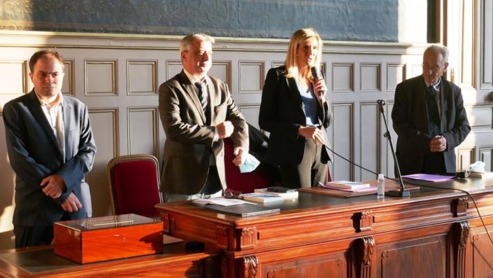 Matthias Vincenot, Frédéric Jacquot, Agnès Evren et Pierre Brunel
